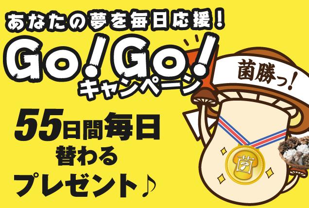 あなたの夢を毎日応援!Go!Go!キャンペーン