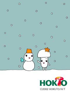 ブナピーと雪だるま